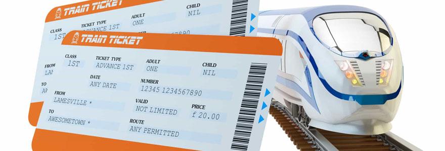 Achat de billets de train en ligne